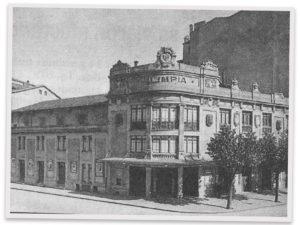Foto del antiguo Teatro Olimpia de Pamplona